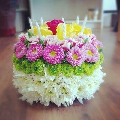 Same Day Birthday Flower Cake Abmfs Hb11